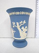 Goblet shaped bisque vase, Wedgewood, England,