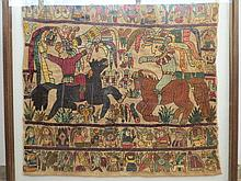 Embroidery work with Aztec (pre-columbian) motifs