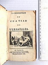 La Description du Chateau de Versailles ed Antoine Vilette, 1687
