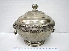 Large pewter pot