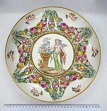 Decorative plate marked Capodimonte,