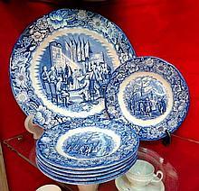 Set of stoneware plates