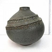 Ceramic vase, Japan, 1960's, marked (damages)