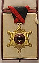 ORDERS AND DECORATIONS: Albania: Black Eagle Order, Knights Cross, in box.