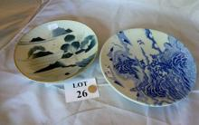 Two blue and white Chinese chargers est: £40-£60 (A2)