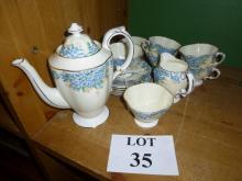 A Hammersley & Co coffee pot, six cups & saucers, sugar bowl and milk jug est: £25-£45 (B23)
