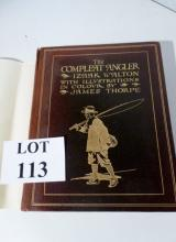 The Complete Angler by Izaak Walton with illustrations by James Thorpe, Hodder & Stoughton, this edition is limited to 250 copies signed and numbered by the artist, this being number 21, gilt tooled leather boards, dust jacket  est: £50-£80 ( D1)
