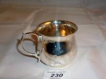 A small silver Christening mug Birmingham 1933 est: £30-£50