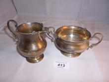 A silver jug and bow Birmingham 1925 est: £100-£130