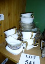 A pretty Ansley part tea service for eight (approx 26 pieces) one cup a/f est: £30-£50 (F18)