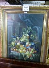 A large framed 20c oil on board still life study signed H Katy lower right est: £50-£80