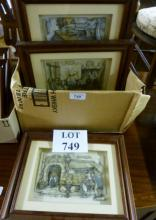 A set of seven framed and glazed Anton Pieck 3D pictures to include 'Punch & Judy' est: £50-£80