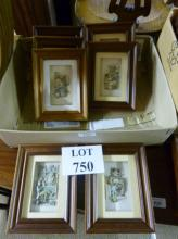 A set of seven small framed and glazed Anton Pieck 3D pictures to include 'Punch & Judy' est: £40-£60