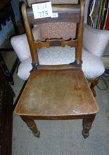 Two 19c country chairs with solid seats est: £15-£20