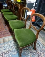 A harlequin set of five balloon back dining chairs est: £50-£70
