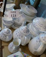 A Wedgwood 'Wind Rush' pattern part tea and dinner service to include tureen and teapot approx 52 piece est: £30-£50 (H)