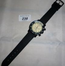A Brietling copy chronograph gentleman's  wristwatch est: £30-£50