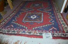 A thick pile Kalardasht (Caspian Kurds) rug with unusual abstract zoomorphic motifs (needs professional wash) est: £160-£190