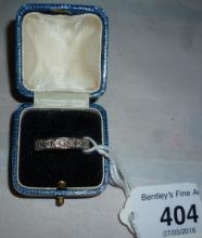 A full diamond eternity ring (size N) boxed est: £1,000-£1,500