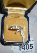 A five stone graduated diamond ring possibly 18ct gold (size R) boxed est: £300-£400