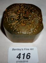 A Chinese jade seal with carved dragon est: £50-£80