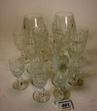 A part suite of fifteen Waterford crystal glasses to include brandy, wines and liqueurs/ports (15)  est: £30-£50 (F16)