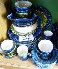 Approximately 45 pieces of Portmadog Cymru Wales pottery china est: £30-£50 (F29)