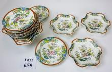 A collection of seventeen pieces of 19c china (some a/f) est: £25-£45 (G1)