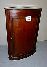A 19c mahogany corner wall cupboard in very clean condition est: £35-£45