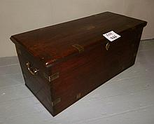 A Victorian rosewood brass bound trunk in excellent condition est: £300-£400