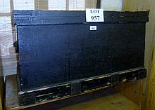 A Victorian black painted pine trunk est: £50-£80