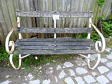 An old wood and iron garden bench est: £80-£100