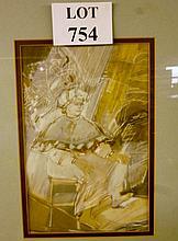Agnes MAGER (Hungarian 1944) - A framed and glazed watercolour entitled 'Dante Paradise', bears label for Artbureau Budapest, 37 cm x 25 cm approx est: £110-£150