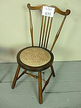 A pretty early 20c mahogany inlaid child's chair est: £20-£25
