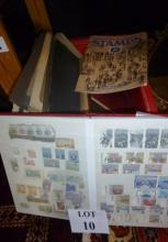 A collection of assorted stamps, mostly in albums; together with a folio Art Past and Present est: £30-£50 (A4)