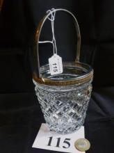 A cut glass and gilt metal mounted ice bucket est: £25-£45 (B19)
