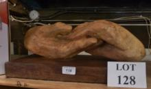 A driftwood carving depicting two clasped hand est: £30-£50 (AB3)
