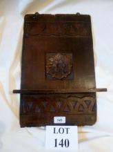 A Victorian carved oak 'bible' wall hanging shelf  est: £30-£50 (G3)