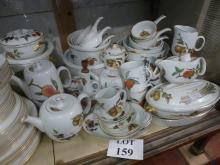 A Royal Worcester 'Evesham' pattern part dinner and tea service approx 52 pieces to include lidded tureens est: £40-£80 (H)