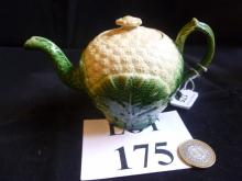 An 18th century Staffordshire cream ware 'cauliflower' teapot and cover c1770's, possibly Wedgwood (a/f) est: £200-£400 (M)
