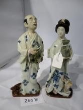 A pair of excellent quality Japanese porcelain figures blue and white est: £400-£600 (M)