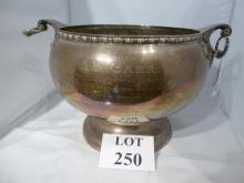 A large solid silver punch bowl hallmarked Birmingham 1902 and presented to: A.W. Carr captain of England vs Australia in test matches 1926 (weighs 3,100 grams) est: £800-£1,200