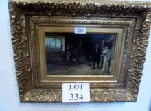 W H Pike - A framed oil on panel entitled 'Hunted Down' signed Pike 91 est: £300-£500