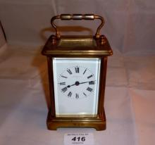 A smaller brass carriage clock Payne & Co, Tunbridge Wells est: £50-£80