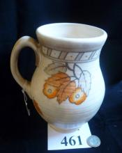 A Charlotte Rhead Crown Ducal 'Falling Leaves' pattern jug (8 1/2 inches high approx) est: £40-£60 (M)