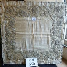 A silk embroidered with silver a superb panel est: £150-£250 (G3)
