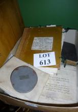 A box of paper ephemera to include deeds, etc est: £25-£45 (F29)