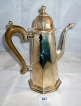 A large Queen Anne style coffee pot Birmingham 1977 Queen's Silver Jubilee est: £200-£400