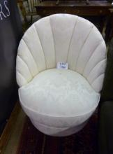 A 1930's style cream upholstered bedroom chair est: £50-£80