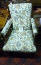 A fine Art Nouveau armchair in excellent condition est: £100-£200